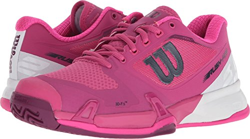 Wilson Women's Rush Pro 2.5 Very Berry/White/Pink Glow 8 B US by Wilson