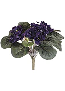 Amazon purple african violet artificial silk flower bushes 3 silk flowers african violet bush in eggplant95 tall mightylinksfo