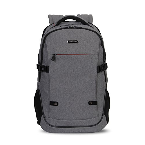 LETSCOM Laptop Backpack - Multi-compartment Padded Daypacks for Notebook Computer (112846-Gray)