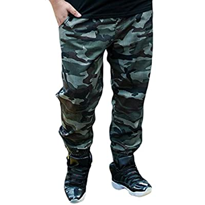 Alion Men New Plus Size Cotton Camouflage Print Suit Pants for sale