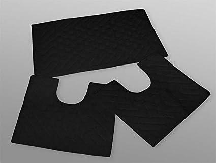 Tappeti Da Bagno Eleganti : Set parure tappeto tappeti bagno cm 50x90 giro water bidet nero