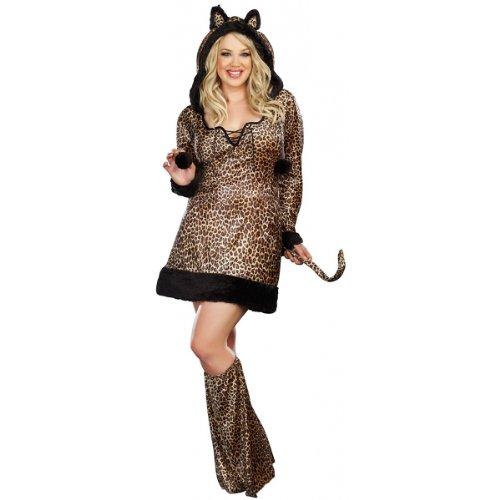 Dreamgirl Cheetah-luscious Plus Size, Brown, XXX-Large/XXXX-Large