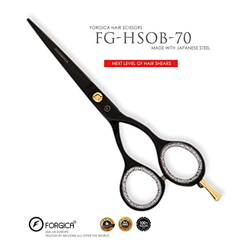 Professional Hair Cutting Scissors Slim 5.5 inch Titanium Black Barber Stylist Salon Shears Hairdressing