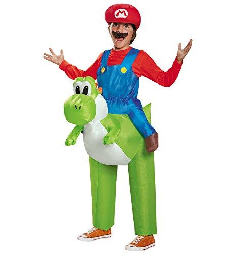 Mario Riding Yoshi Child Costume - One (Yoshi Costume Child)