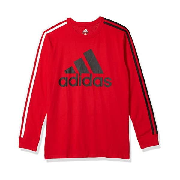 adidas Boys' Long Sleeve Cotton Jersey T-Shirt Tee – Great Family Mall