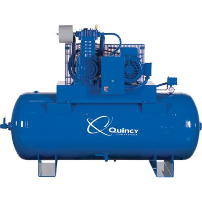 - Quincy QT-10 Splash Lubricated Reciprocating Air Compressor with MAX Package - 10 HP, 460 Volt, 3 Phase, 120 Gallon Horizontal, Model# P2103DS12HCB46M