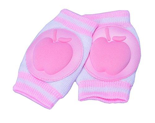 Baby knee pads,Breathable Adjustable Elastic Unisex Infant Toddler Baby Kneepads (Pink)