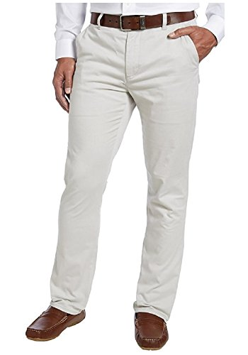 - Kirkland Signature Men's Chino Pant Tailored Fit Straight Leg - 32W x 34L - Bone