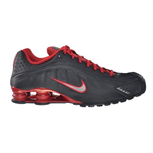 5024909e970a NIKE Shox R4 Mens  Shoes Black Metallic Silver-University Red-Black 104265