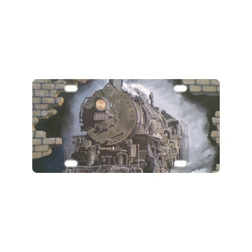 Steam Train License Plate with Personalized and Novelty -12