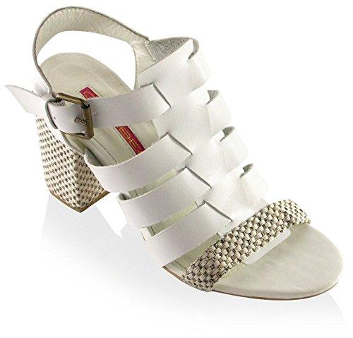 6 Valkoinen Sandaali Naisten C Falicia merkintä WzUOZxFn0