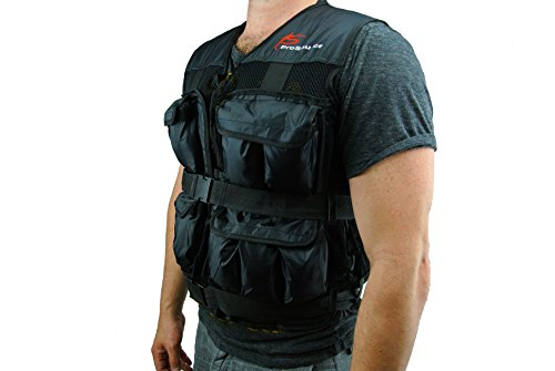 ProSource 20lb Weighted Unisex Workout Vest Training Fitness 20 pounds lb Adjustable Weight