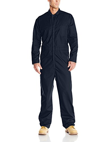 (Red Kap Men's Long Sleeve Twill Action Back Coverall, Navy,)