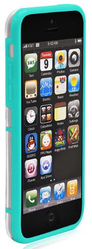 COD(TM) Ionic LUCID Soft And Hard Case for Apple iPhone 5C 2013 Smartphone (Green)