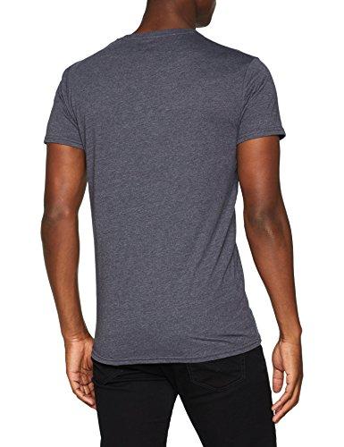 Blu Blu Ombre shirt T 1950m Homme Blau Melange Rock solid ombre 0SwqvU