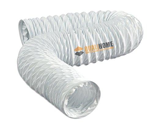 White Flexible Pvc Vinyl Vent Duct Hose, 4 in. x 20 ft. ()