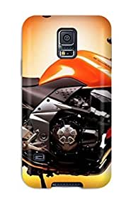 For Galaxy Case, High Quality Amazing Orange Kawasaki Motorcycle For Galaxy S5 Cover Cases