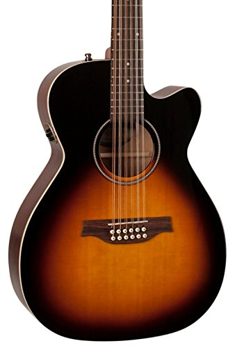 Seagull S12 Spruce Sunburst Cutaway Concert Hall QIT Acoustic-Electric Guitar Sunburst