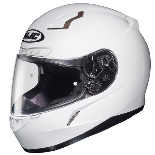 HJC 824-144 CL-17 Full-Face Motorcycle Helmet (White, Large)