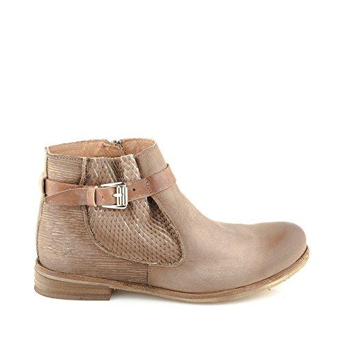 com Genuino Mujer Zapatos Enamorarse Botines para Cuero Felmini Marr cremallera con Alfa A003 qwI1af