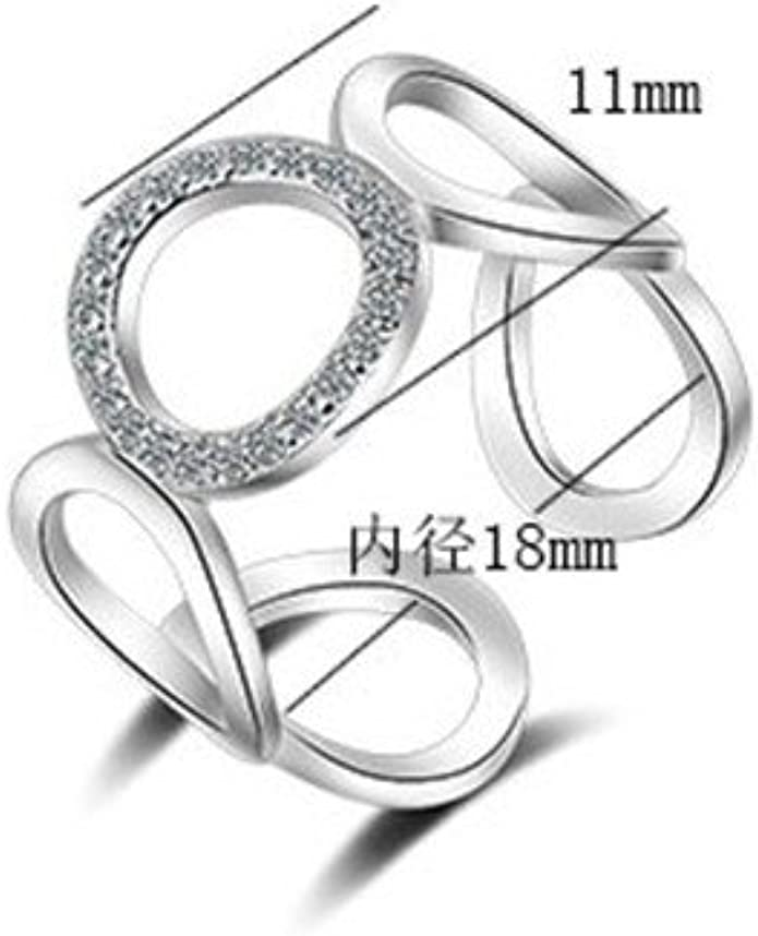 Wansan Open Ring Star Crystal Rings Jewelry Accessory for Engagement Banquet Party