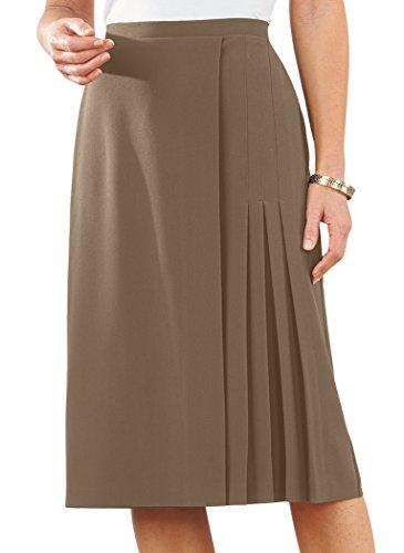 AmeriMark Faux Wrap Skirt - Flat Front Petite Skirt
