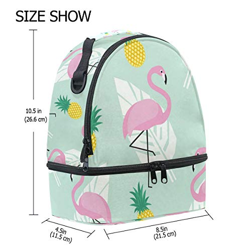 FOLPPLY diseño hombro Bolsa correa térmica piña con Flamingo de el para ajustable RHgR4q