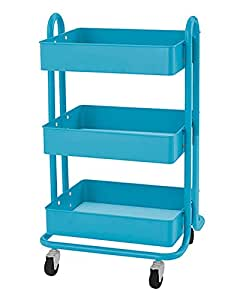 RASKOG Home Kitchen Bedroom Storage Utility cart, Turquoise