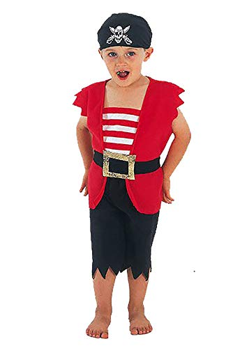MA ONLINE Boys Halloween Pirate Outfit Toddler Book Week Props Party Fancy Dress Costume 2-3 -