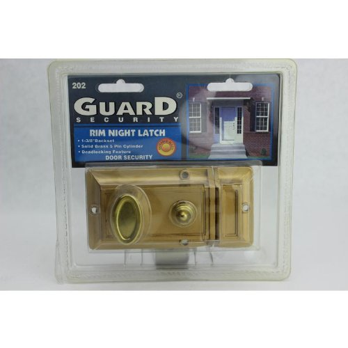 Rim Night Latch - Guard Security 202 Night Rim Visual Pack Latch
