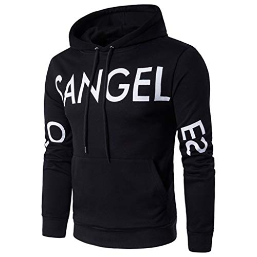 GREFER Cool Hoodies for Men with Designs - Men's Lightweight Sweatshirts Mens Hoodies with Pockets Black