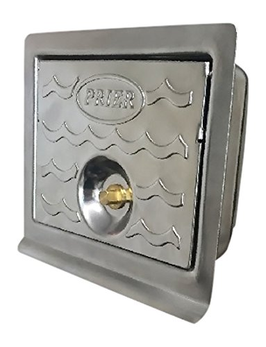 PRIER PRODUCTS C-534BX4 Wall Hydrant Stainless Steel Box for C-534 Commercial Lockable (Stainless Valve Box Steel)