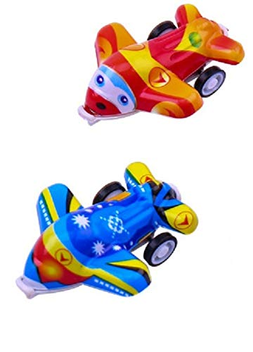SoGreat Mini Pull Back Airplane Toys for Toddlers, 2 Piece Set, Inspire Science, Imagination, Social Play, Creativity in Boys and Girls, 2 Planes in Random Colors (Toys To Take On Airplane For Toddler)
