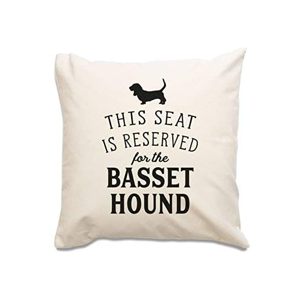 NEW - RESERVED FOR THE BASSET HOUND - Top Quality Cushion Cover - Dog Gift Present Xmas Birthday 1