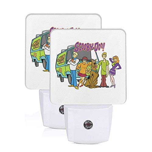 Scooby-Doo Family LED Night Light Lamp Bed Lamp Set of 2 with Dusk to Dawn Sensor