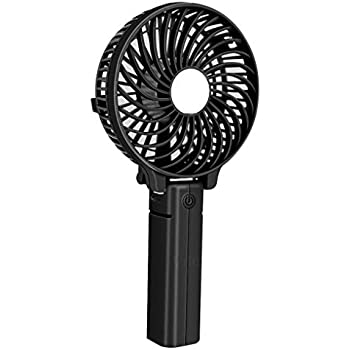 Vila Handheld Portable Fan Rechargeable Battery - USB Charger for Use in Car or with Power Bank - Mini Portable Fan for Home or Office - Foldable Design for Travel, Camping & Outdoor Activity