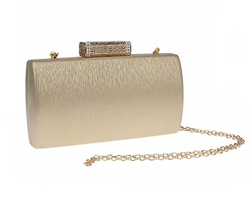 Bridal New Ladies Wedding Clutch Party Evening Gold Envelope AnKoee Hand Bag Bag Brand RZwU88