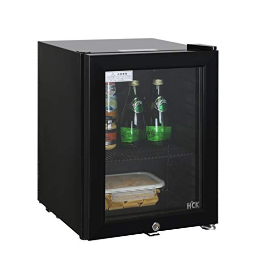 Thermostat Small Refrigerator Hotel Refrigerator Single Door Refrigerated Home Beverage Wine Cabinet Small Ice Bar Wine Cooler (Color : Black, Size : 5042.535cm)