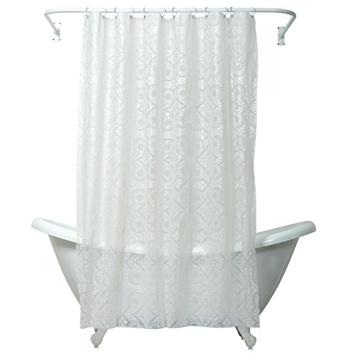 Pattern Frosted White - Zenna Home Morocco Peva Shower Curtain, White
