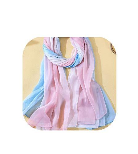 180140Cm Scarves Women Two Tone Silk Shawls Scarf High Big Swimwear Bikini Cover Up Dress,Color 4