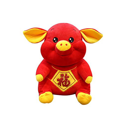 keebgyy Pig Year Mascot, 2019 Happy New Year Cute Mascot Pig Simulation Piggy Plush Toy Party Decoration Gift
