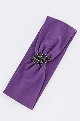 Trendy Fashion Jewelry Faceted Acrylic Jewel Accent Headwrap By Fashion Destination
