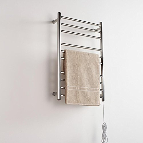 TuTu Wall Mounted Stainless Steel Electric Heated Towel Rail / Bathroom Radiator / Towel Warmer 9005