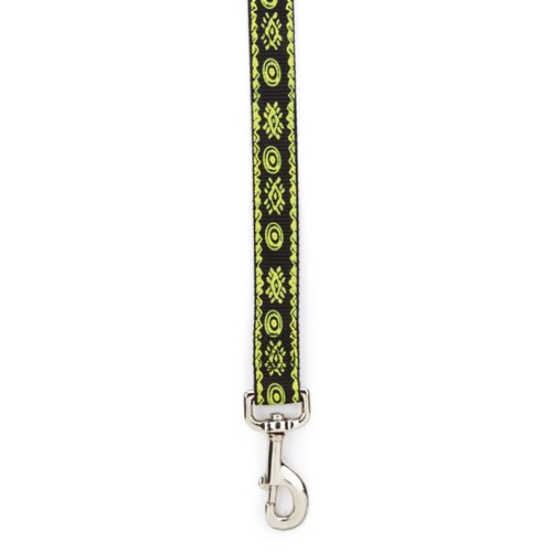 Casual Canine Green - Casual Canine Nylon Artisan Print Dog Lead, 6-Feet, Parrot Green