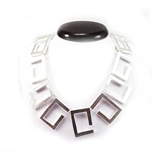 "Necklace 'french touch' ""Dv - Antica"" silvery."