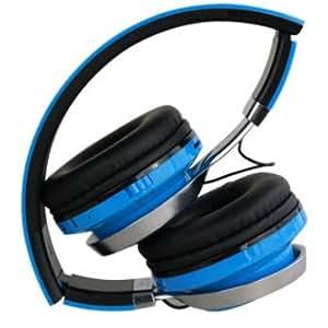 Home - Cascos Bluetooth con transmisor FM y tarjeta TF plegables. Auriculares de diadema con cancelación de ruido - Modelo Arvo - Azul