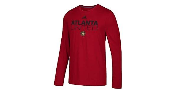 online store 9783a b0723 Amazon.com   adidas Atlanta United FC Men s Locker Room Long Sleeve T-Shirt  Red   Sports   Outdoors