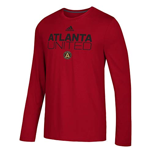 adidas Atlanta United FC Men's Locker Room Long Sleeve T-Shirt Red (X-Large)
