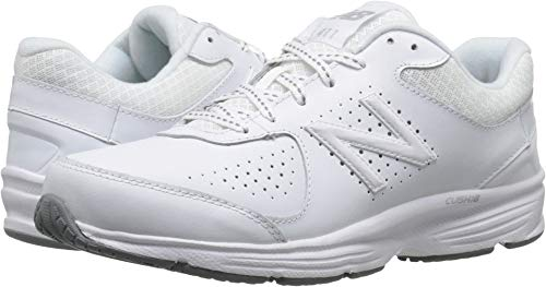 New Balance Women's WW411v2 Walking Shoe, White, 5.5 2A US