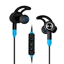 Mixcder Flyto Bluetooth 4.1 Earbuds [Long Standby Time/Working Time][Lightweight][Sweatproof] [Triangle Position/Anti-shedding][Lock-in Design]Sport Running Gym Exercise Headsets with Built-in Microphone[Hands Free Calling]for iPhone 7,7 Plus,iPhone 6s,iphone 6, 6 Plus,6s Plus, 5 5C 5S 4S iPad,LG G2,Samsung Galaxy S5 S4 S3 Note 3, Android Cell Phones